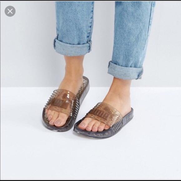 newest 3c38b 2e28f Fenty X Puma Clear Jelly Slide Sandals